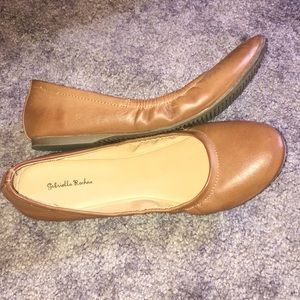 VERY CUTE Flat Brown STRETCHY Shoes